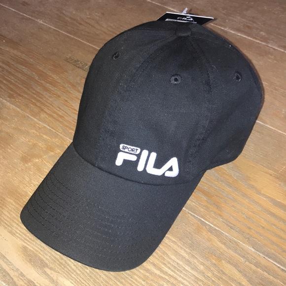 eff5da38a2d FILA SPORT Black Essential Embroidered Logo Cap